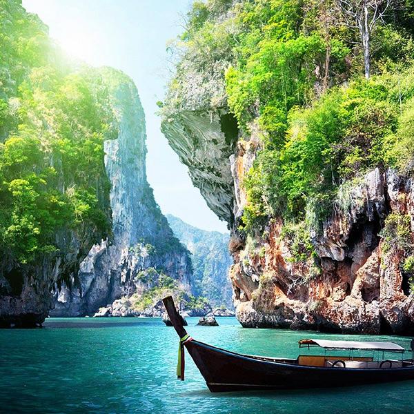 Путешествие по Таиланду, красивые виды, путешествие на лодках