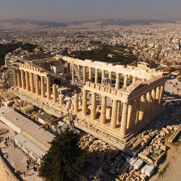 Посетить древние руины в Греции: храм Зевса, Афины