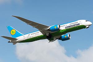 Самолёт компании Uzbekistan Airways, авиапарк Узбекских авиалиний