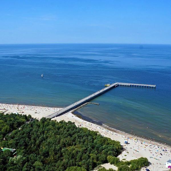 Отдых на пляжах в Литве, песчаные пляжи, пирс в Паланге