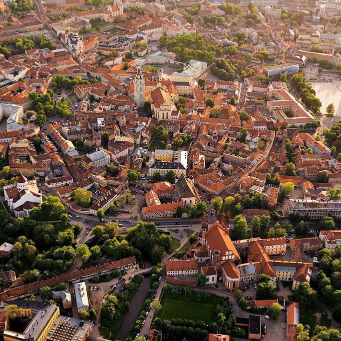 Посетить старый город Вильнюса, старый город Каунаса